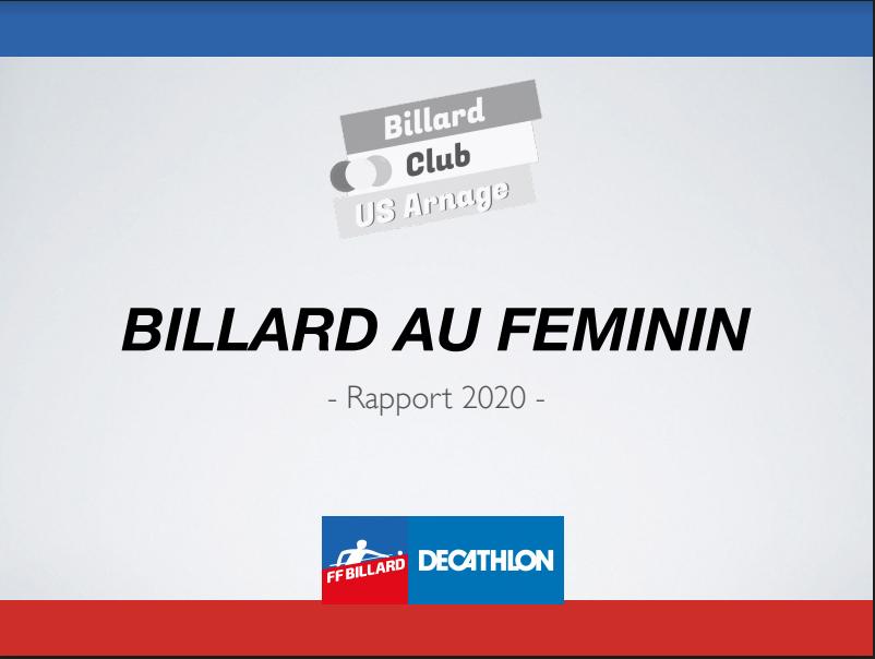 Rapport 2020 - Billard Féminin - Rapport